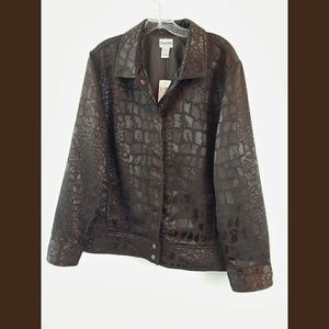 Chicos NWT Brown Snapfront Jacket Sz XL/3